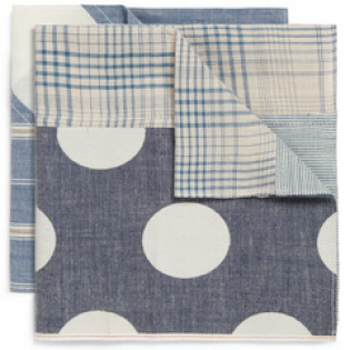TWO-PACK PATTERNED POCKET SQUARES